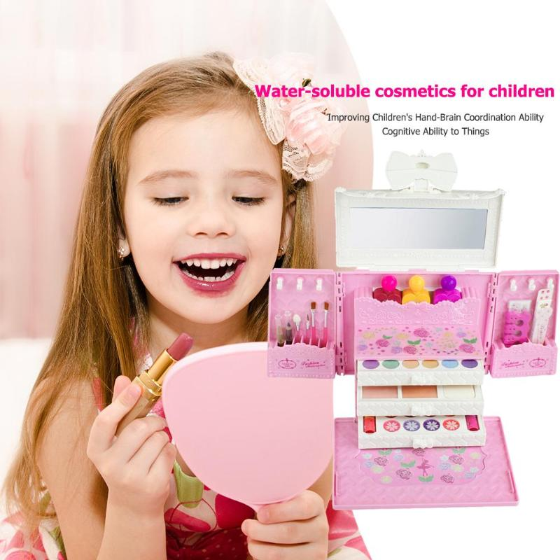 Princesse maquillage voiture enfants maquillage jouet princesse cosmétiques Set jouet maquillage Kits semblant jouer enfants beauté cadeau