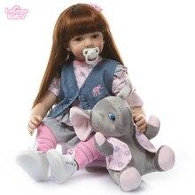 Logeo Baby Reborn Doll 60cm Realistic Soft Silicone Dolls Newborn Bebes Princess dollhouse Toys Gift