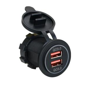 Dual USB Car Charger Adapter Q