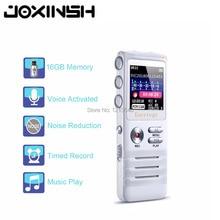 лучшая цена 8GB Digital Voice Recorder with Double Microphone HD Recording Premium Metal Case Mic and Dictaphone USB MP3 Free Headphones