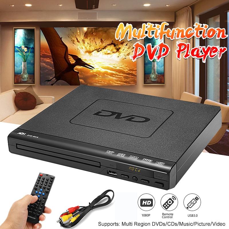 110 В-240 В USB Портативный несколько воспроизведения DVD плеер АДГ DVD CD SVCD VCD проигрыватель дисков домашнего кинотеатра Системы с Romote Управление