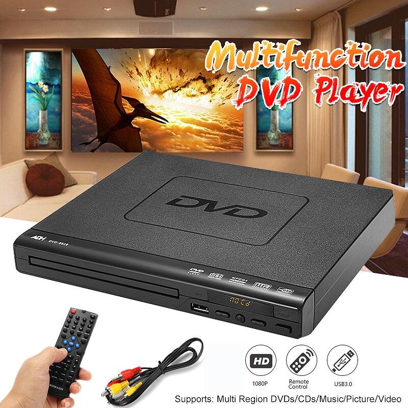 110 v-240 v USB Portable Multiples Lecture DVD Lecteur ADH DVD CD SVCD VCD Disque Player Home Cinéma système Avec Contrôle Romote