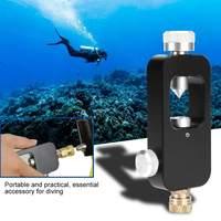 Mini Oxygen Tank Respirator Adapter Head Part Aluminum Alloy Diving Equipment Scuba Diving Oxygen Cylinder Accessiories