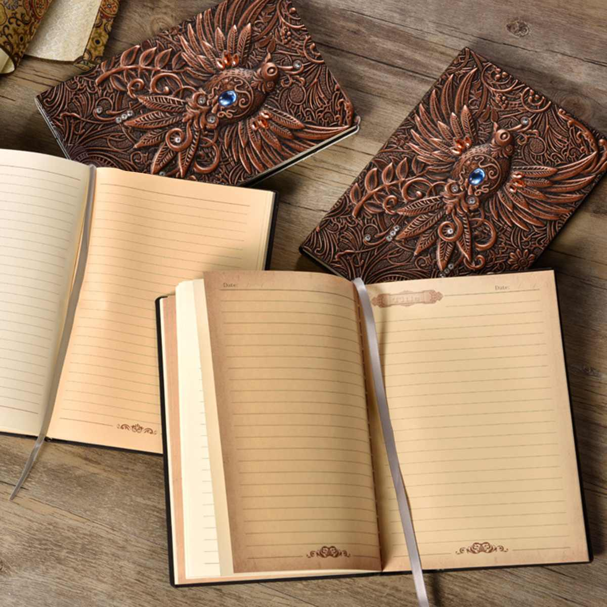 Vintage Leather Notebook Journal Handcraft Embossed Phoenix Diary Notebook Gift Bible Book Travel Journal Planner School OfficeVintage Leather Notebook Journal Handcraft Embossed Phoenix Diary Notebook Gift Bible Book Travel Journal Planner School Office