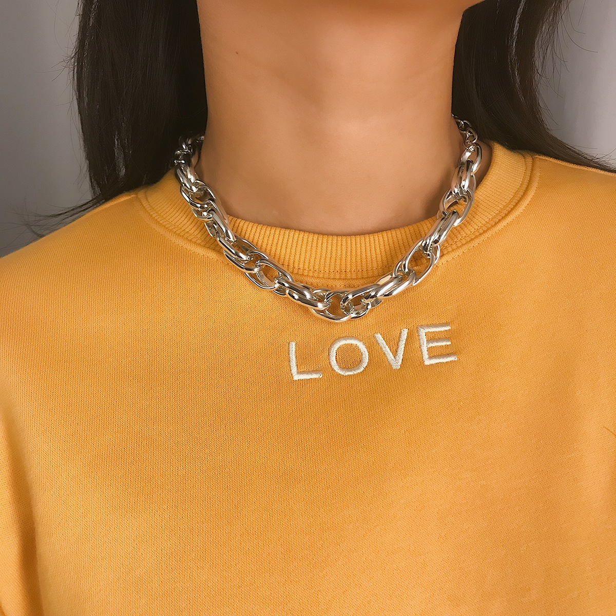 Modest Ziime 2019 Metal Punk Thick Chain Choker Necklaces For Women And Men Vintage Simple All-match Short Necklace Fashion Jewelry Bringing More Convenience To The People In Their Daily Life