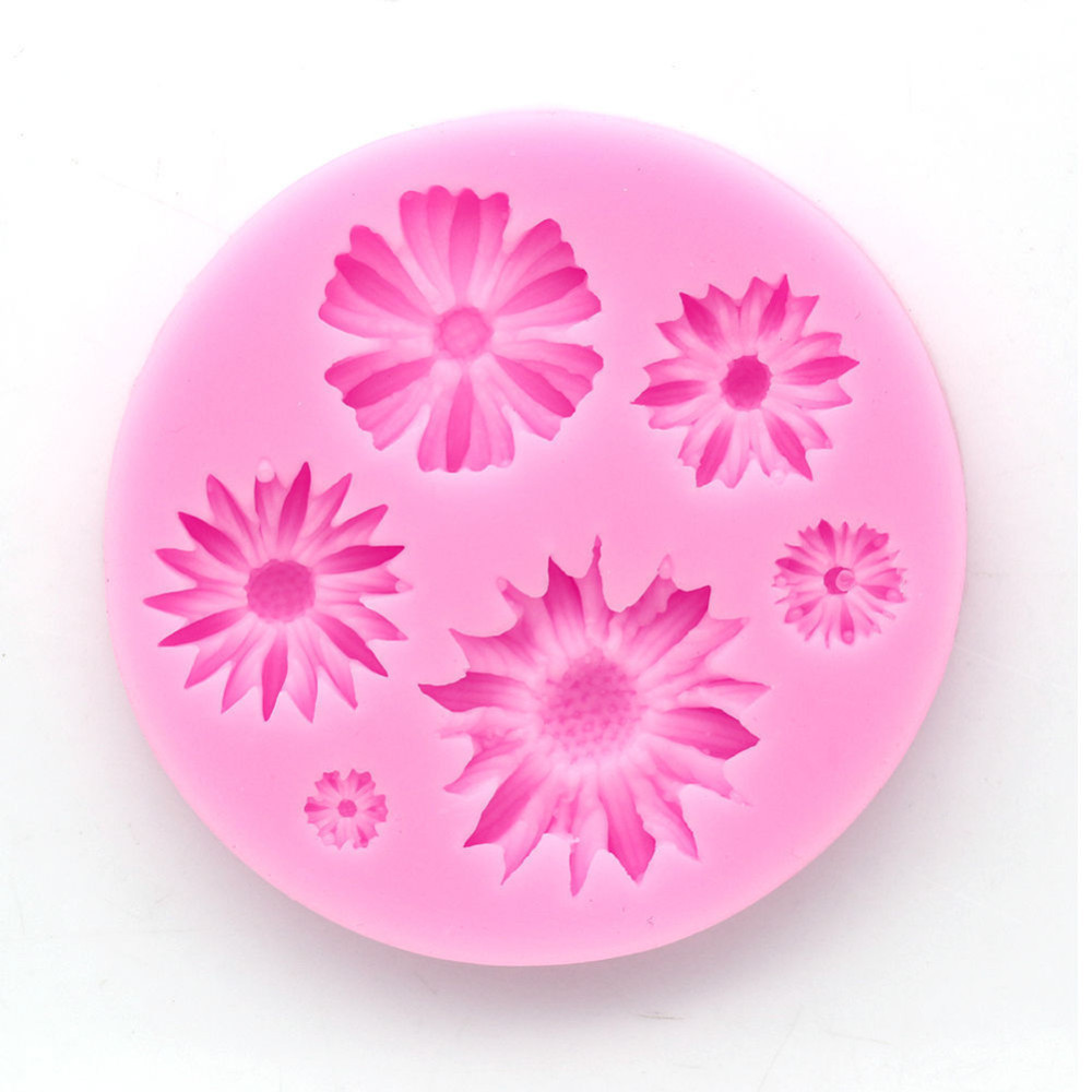 3d Flower Silicone Baking Molds Easy To Use Suitable for Chocolate And Ice cream 2