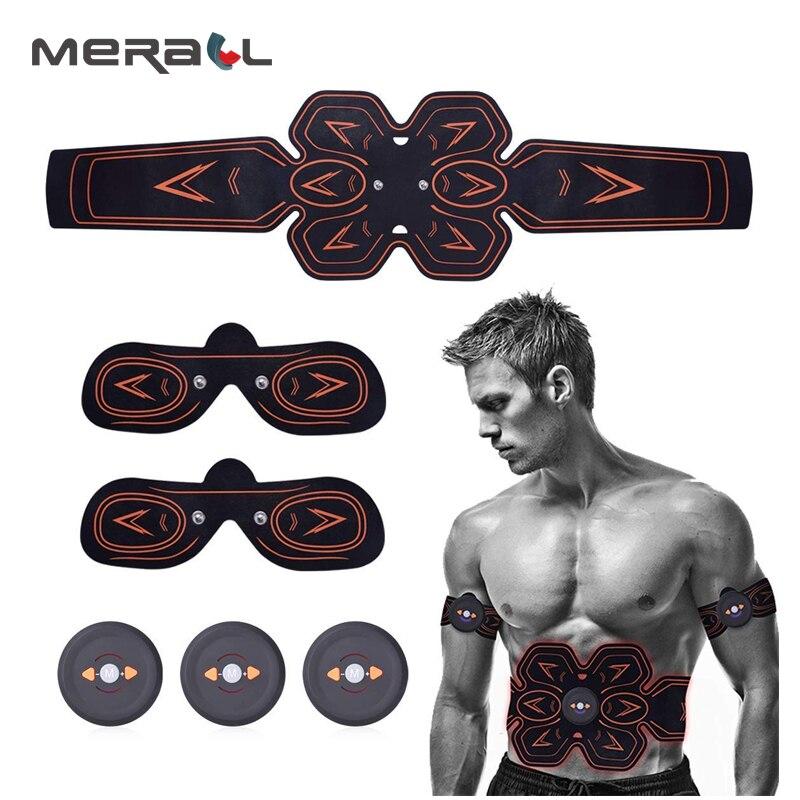 EMS Muscle Stimulator ABS Men Abdominal Muscle Trainer Smart Fitness Slimming Waist Belt Full Body Muscle Exerciser