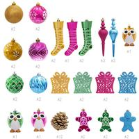 Christmas Decorations Balls Colorful Pine Cones Decorative Tree Gifts Heterosexual Ball Hanging Ornaments