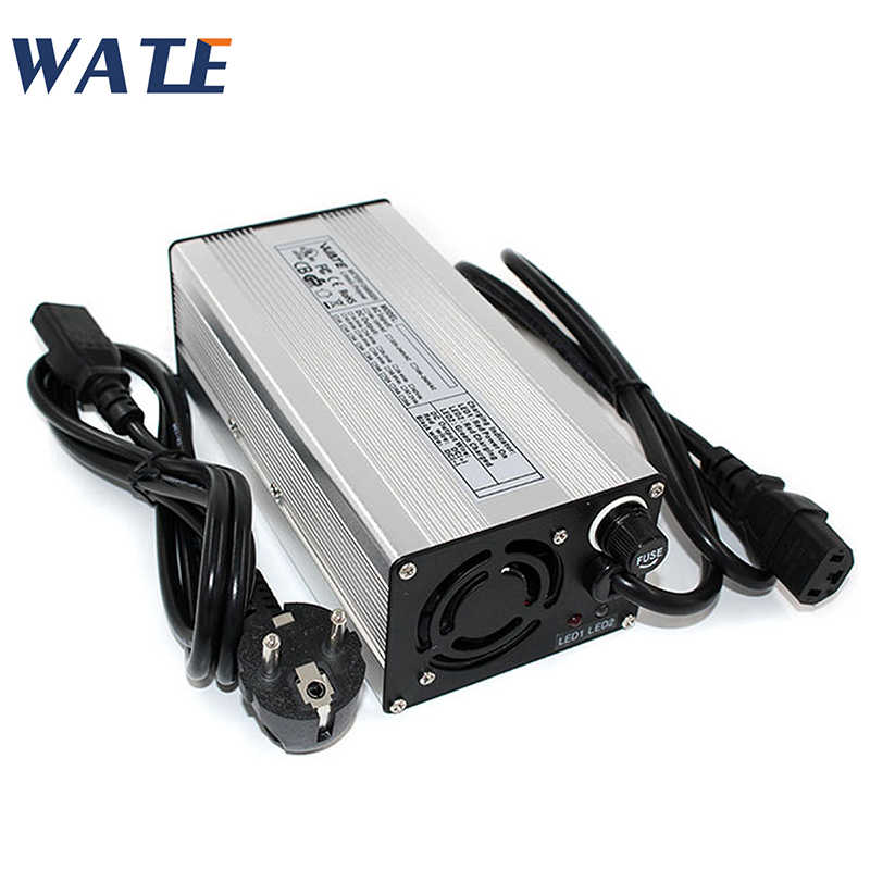 50.4 V 5A Charger untuk 12 S Li-ion Battery Pack 4.2 V * 12 = 50.4 V Baterai Smart Charger dukungan Cc/CV Mode