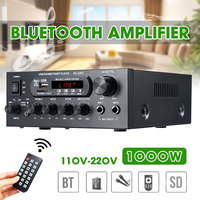 1000W 220V 110V Audio Power Amplifier Home Theater Amplifiers Audio with Remote Control Support FM USB SD Card bluetooth