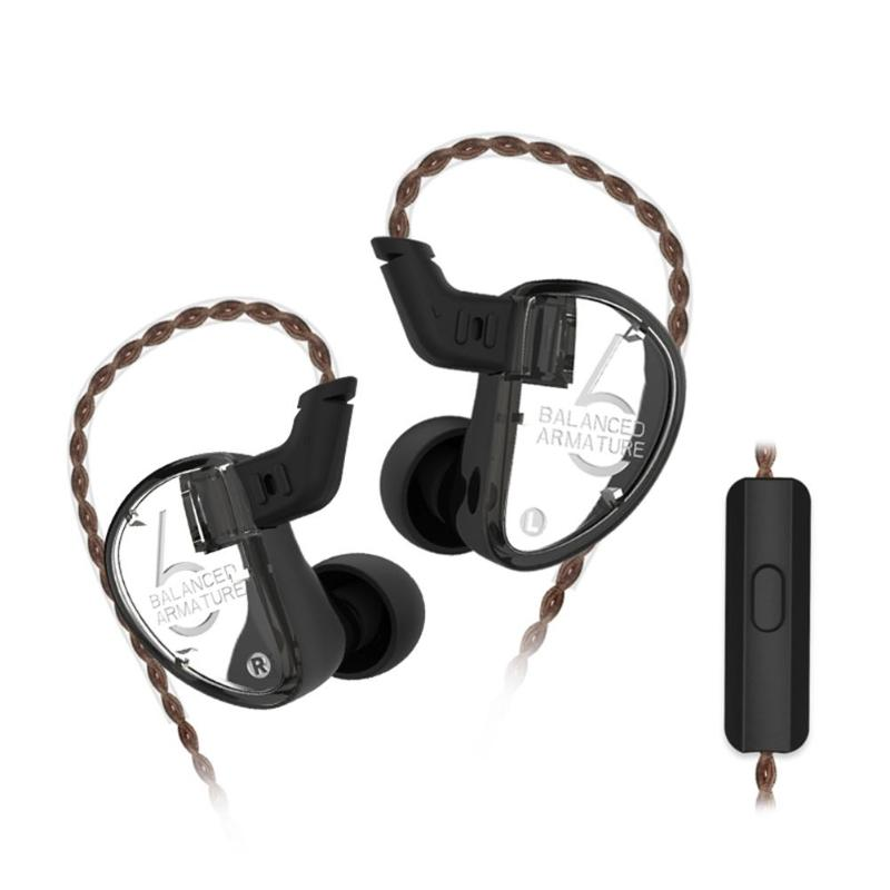 Внутриканальные наушники с проводами наушники 6 единиц балансный арматурный драйвер HIFI монитор с басом наушники с/без микрофона для смартф...