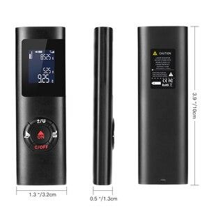 Image 3 - أسود 40 متر يده LCD صغير الرقمية مقياس مسافات الليزر قياس Rangefinder 131ft الضوء الأحمر ليزر المدى مكتشف مع الخلفية