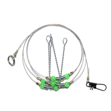 1pcs 55CM 3 Arms Stainless Steel Fishing Rigs Fishing Tackle With Swivel Snap Lure balance