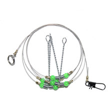 1pcs 55CM 3 Arms Stainless Steel Fishing Rigs Fishing Tackle With Swivel Snap Lure balance(China)