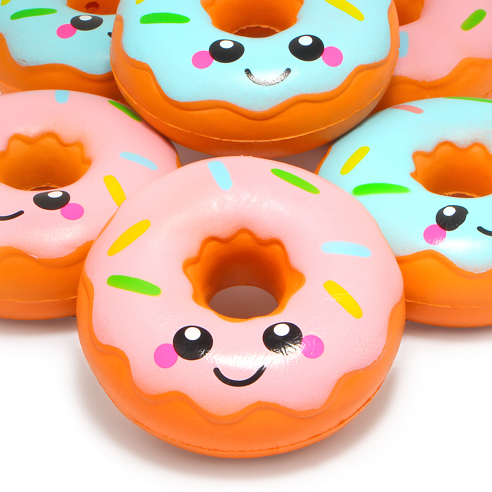Jumbo Cute Face Donut Squishy Bread Squishies Cream Scented Slow Rising Kids Toys Doll