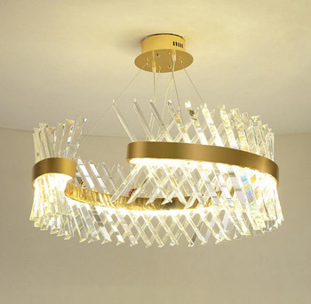 Mode Ameican Kristall Kronleuchter LED Kreative Luxus Villa Decke Lampe  Wohnzimmer Lampe Runde 60 cm 80 Esszimmer Lampe