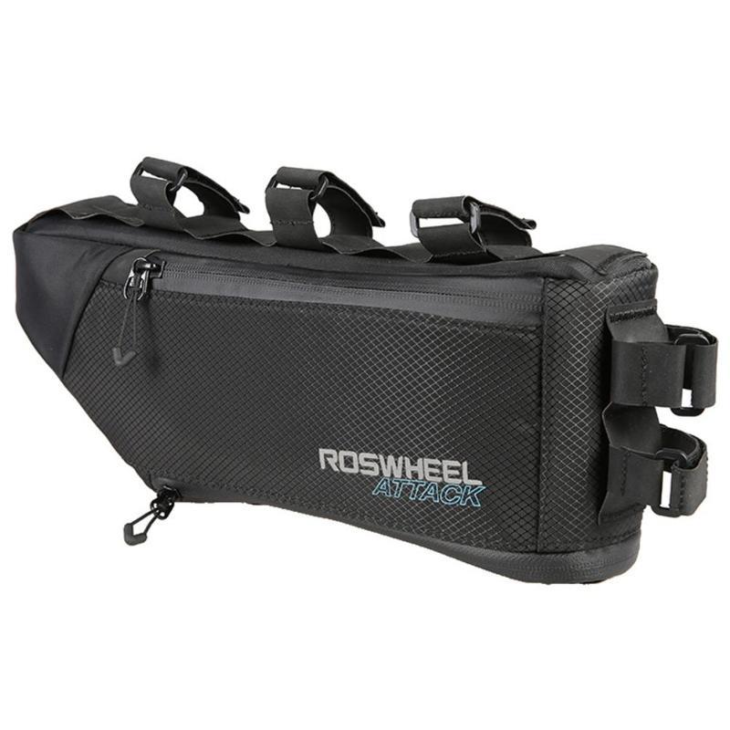 ROSWHEEL 3 + 1L Étanche Avant de Bicyclette Top sac tubulaire Triangle Cadre Poche