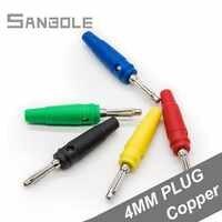4mm Banana Stecker Reinem Kupfer 20A Elektrische Sieben Nadel Vermeiden Schweißen Rot/Gelb/Blau/Grün/ schwarz (10 PCS)