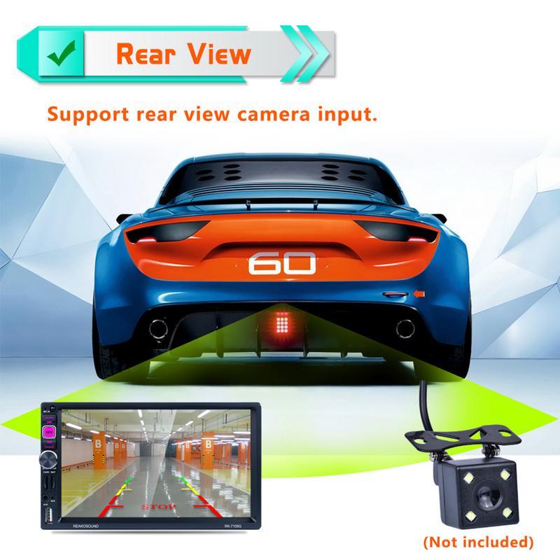 7 pouces 1080 P Voiture Double Lingot Bluetooth MP5 Lecteur GPS Navigator Android Téléphone HD de Recul AV AM/FM /RDS Radio 2.1A Lecteur