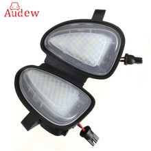 2Pcs White Under LED Side Mirror Puddle Light Lamp For VW Go