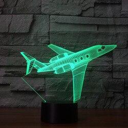 Statków powietrznych 3d kreatywny NightlightRomantic upominek Led lampka nocna Led Usb 3d noc światło boże narodzenie dekoracyjne światła