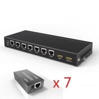 8 портов HDMI сплиттер extender Поддержка 3D с Ethernet 1080 P до 164Ft/50 м RJ45 UTP POC и EDID более Cat5e/6/7
