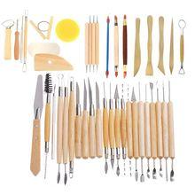 42Pcs Modeling Clay Pottery Sculpting Tools Carving Tool Set Carver Craft DIY