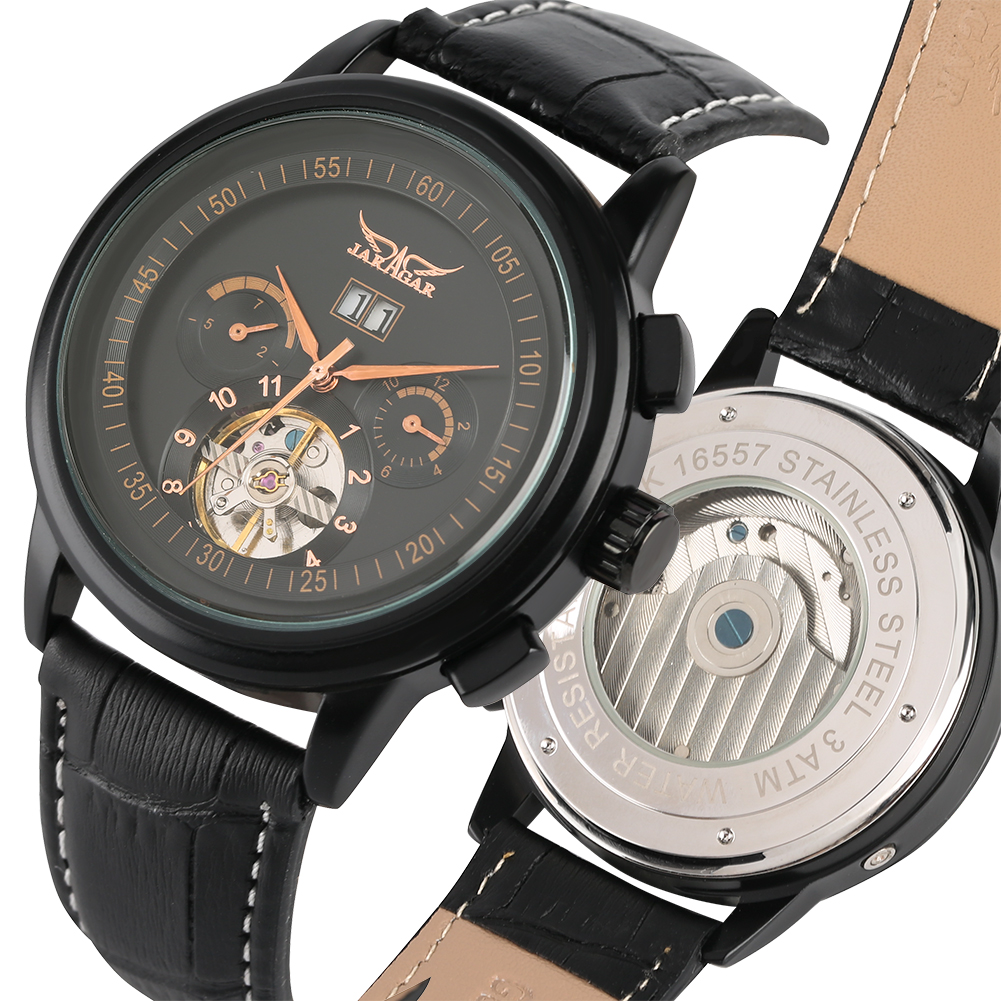Mechanical Watches Genuine Leather Automatic-self-wind Wrist Watch Stainless Steel Skeleton Top Brand Luxury Business Men RelojMechanical Watches Genuine Leather Automatic-self-wind Wrist Watch Stainless Steel Skeleton Top Brand Luxury Business Men Reloj