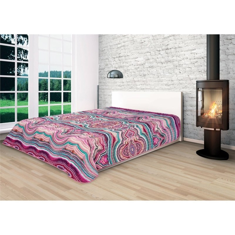 Bedspread Ethel Minerals Onyx, size 220*240 cm, microfiber 100% N/E