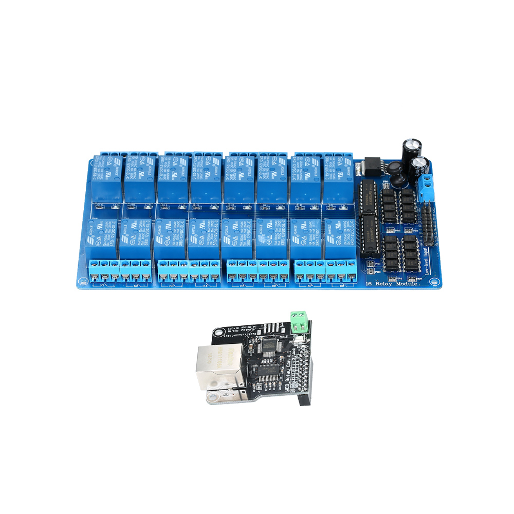Control-Module For Ios Raspberry Pi/16-Chs-Relay Expansion-Board Network Web-Server Rj45-Port