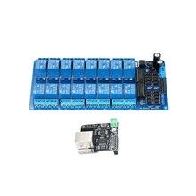 Модуль управления LAN WAN сетевой веб-сервер IP TCP RJ45 порт+ 16 канальный реле для расширения платы для iOS Raspberry Pi 16 CHs реле