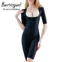2070b7e7f3 Burvogue Women s Open Butt Shapewear Seamless Firm Control Bodysuits Waist  Control Bodysuits Full Body Shaper Slimming