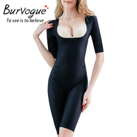 Burvogue Women's Open Butt Shapewear Seamless Firm Control Bodysuits Waist Control Bodysuits Full Body Shaper Slimming Underwear
