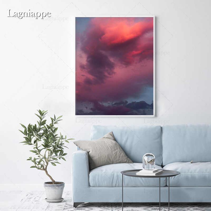 Colorful Cloud Aesthetics Landscape Wall Art Canvas Decoration