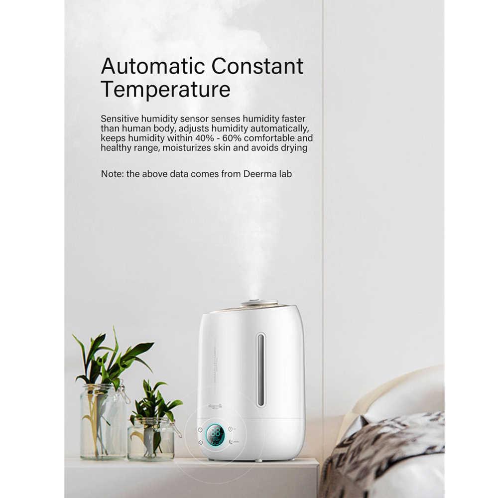 Xiaomi Deerma humidificateur d'air à ultrasons brouillard 5l silencieux arôme brumisateur écran tactile LED fonction de synchronisation diffuseur d'eau à la maison