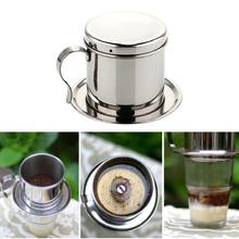 Stainless Steel Coffee Pot Drip Machine Filter Type Brewing Teapot 1 x Maker steel