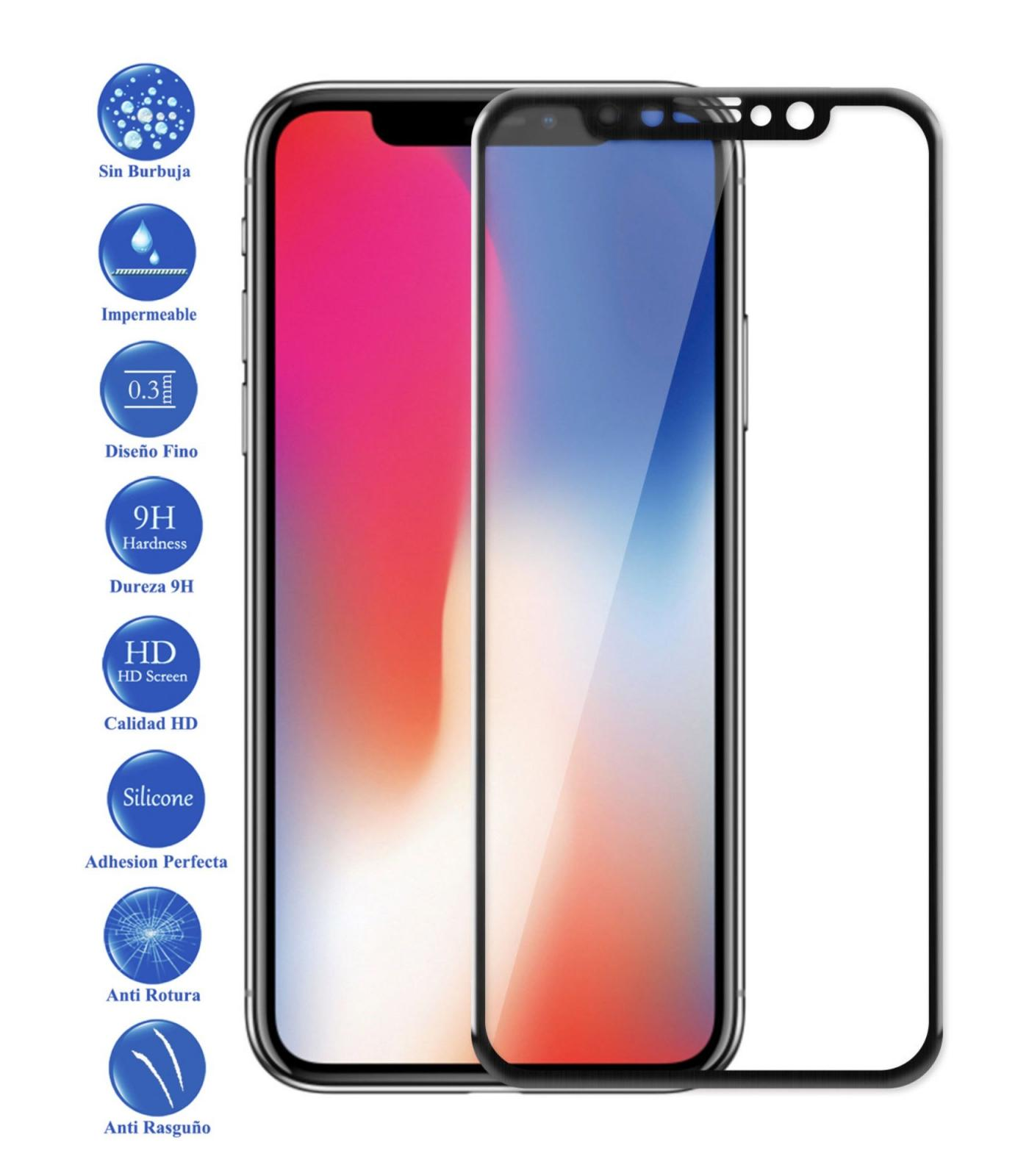 Full Toughened Glass LCD Cover Screen Protector For Apple IPhone X 10 Black