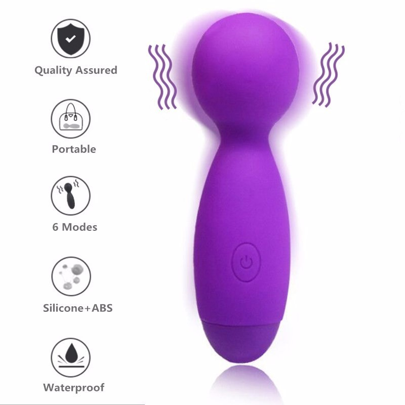 6 Speeds Waterproof Portable AV Strong Vibration Sex Product Vagina Massager G-spot Vibrator Sex Toys For Woman Orgasm Vibrator
