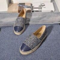 Женская обувь, хлопковая ткань, круглый носок, хит продаж, Брендовые женские эспадрильи, женская обувь на толстой мягкой подошве, модная удо