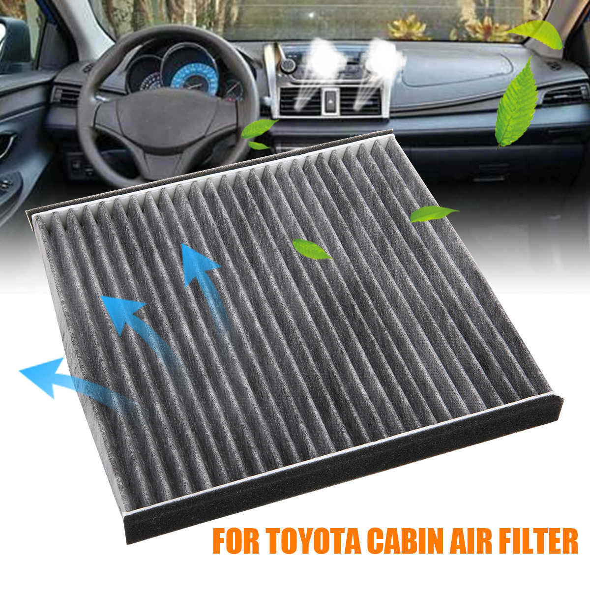 Mayitr 1pc High Quality Cabin Air Filter Non-woven Repalacement For Toyota 4 Runner Avalon Camry Corolla Cruiser 87139-33010