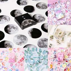 45 шт./кор. канцелярские наклейки Vaporwave DIY Планета Sticky бумага Kawaii Moon растения наклейки для украшения дневник в стиле Скрапбукинг