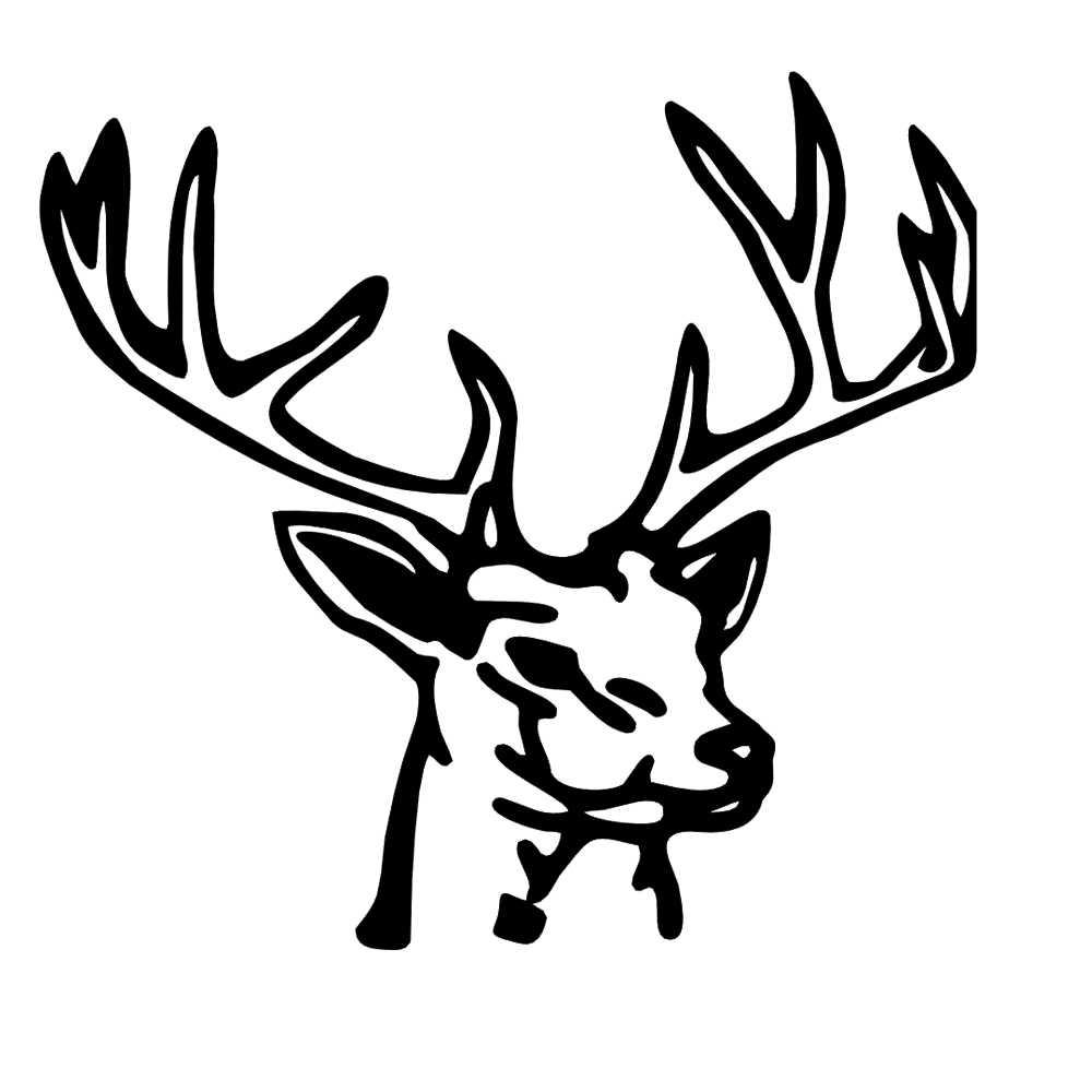 15*14 см голова оленя животных Спорт Охота обувь для мальчиков быть разными Мода личность автомобиль наклейка стикеры винил