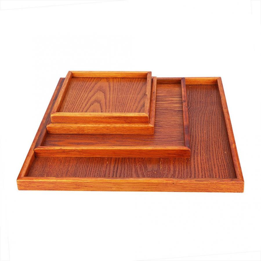 4 Size Kung Fu Tea Set Wood Bamboo Tea Tray Multi-purpose Natural Wood Bamboo Serving Tea Tray Chahai Tea Table