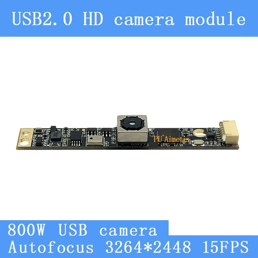 USB camera module 800W SONY IMX179 AF Autofocus HD face recognition camera support audio Surveillance camera