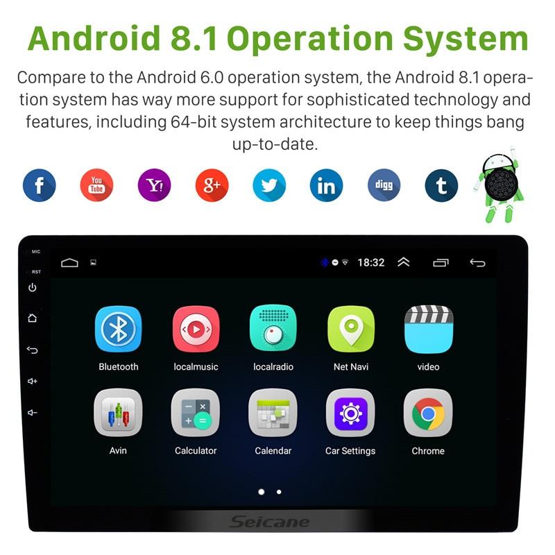 Autoradio universel Seicane pour TOYOTA COROLLA Camry Land Cruiser HILUX PRADO RAV4 Android 8.1 GPS unité de tête de lecteur multimédia - 3