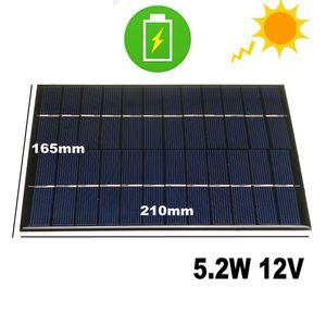 Image 1 - CALTIE 12V 5.2W 165*210 مللي متر مصغرة ألواح شمسية متعدد الكريستالات/ البلورات الايبوكسي مجلس DIY الايبوكسي الكريستالات الخلايا للالهاتف المحمول