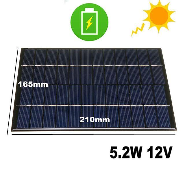 CALTIE 12V 5.2W 165*210 مللي متر مصغرة ألواح شمسية متعدد الكريستالات/ البلورات الايبوكسي مجلس DIY الايبوكسي الكريستالات الخلايا للالهاتف المحمول