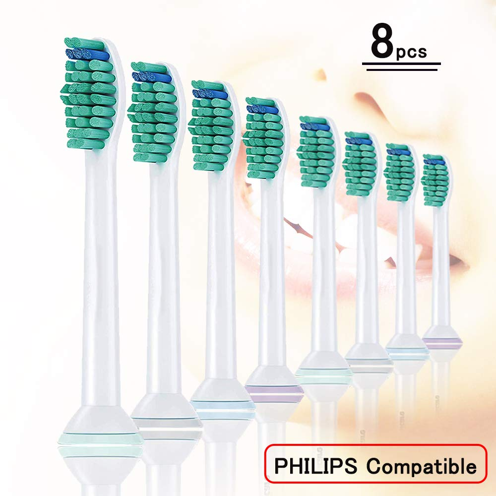 8PCS Electric Toothbrush Replacement Heads HX6014 for Philips Sonicare Tooth Brush DiamondClean,FlexCare,HealthyWhite, EasyClean image