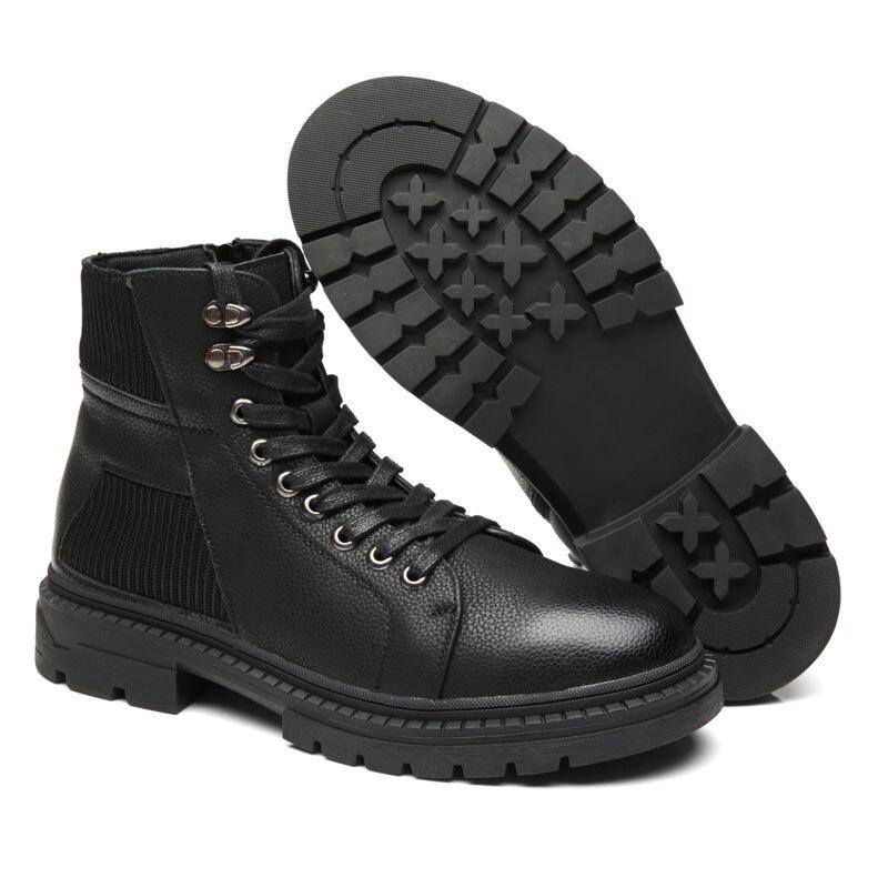 Mans Lace Homens Venda Quente Botas Couro De High Black Nobuck 2019 Top Martin Sapatos Retro Britânico Inverno Up Homem Outono Ankle Boots Calçado AqRqSwTF