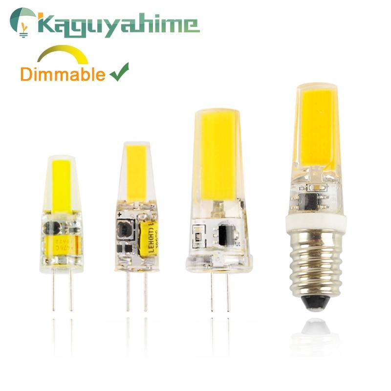 Kaguyahime LED COB G4 G9 E14 Dimmable Lamp Bulb AC/DC 12V 3w 5w 6W 220V LED G4 G9 LightBulb For Chandelier Replace Halogen Lamp